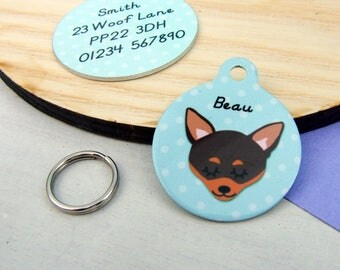 Chihuahua Dog Tag Personalised - SMALL 25mm