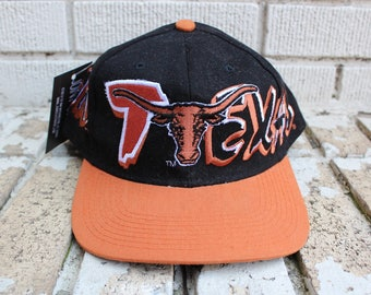 Vintage TEXAS LONGHORNS Hat Snapback texas university sports college athletic officially licensed