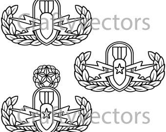 Explosive Ordnance Disposal Badge Vector File