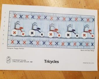 Tricycles smocking design by Mollie Jane Taylor