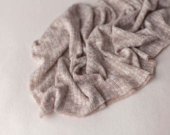 Aiden Newborn Wrap, Newborn Sweater Knit Wrap, Newborn Photo Prop, Neutral Baby Wrap, Textured Newborn Wrap, Two-Tone Neutral Wrap