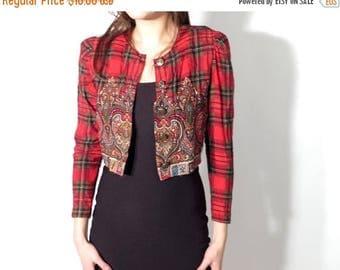 SALE Vintage Crop Top / 90s Crop Shirt / Karin Stevens / Crop Shirt Size 2