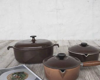 Le Creuset Cookware Set Of 3