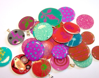 26 round stock clearance resin cabochons