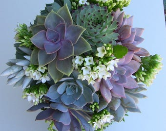 Brianna-Succulent Wedding Bouquet,