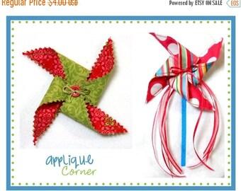 50% Off 567 Pinwheel applique design digital  for embroidery machine by Applique Corner