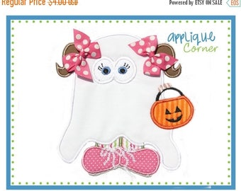 40% OFF 134 Trick or Treat Halloween Ghost Girl applique digital design for embroidery machine by Applique Corner