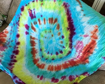Tie dye bamboo swaddle blanket