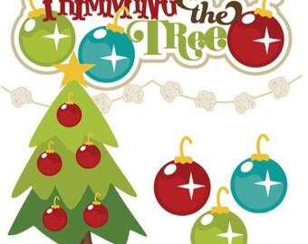 Christmas die cuts, christmas embellishments, Christmas Scrapbook, scrapbook embellishments, Christmas tree die cuts, Holiday scrapbook