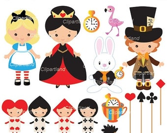 ON SALE INSTANT Download. Alice in Wonderland clip art. Ca_17. Personal and commercial use.