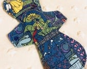 "11"" heavy absorbency cotton knit  top stained glass beauty and the beast print cloth pad"