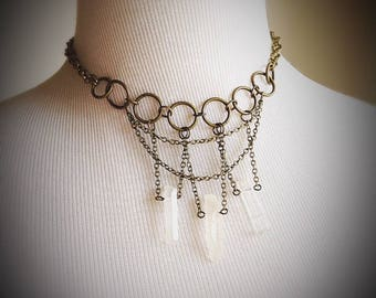 Crystal Sorceress Necklace Occult Jewelry