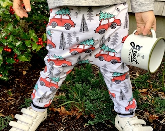 Baby Harem Pants   Grow With Me Pants   Baby Harems, Hipster Baby Pants, Toddler Harem Pants, Christmas Baby Pants, Christmas Vacation Pants