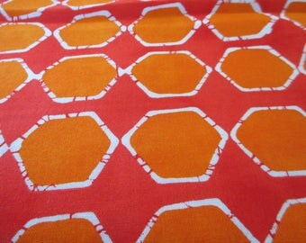 Quilting Weight Cotton Fabric Poems from Pebbles in Scarlet by Malka Dubrawsky for Moda 1 yard