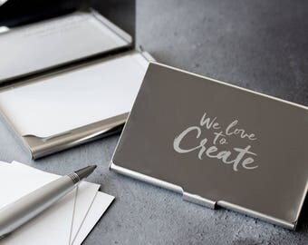 Custom Logo Business Card Holder - Case - Graduation - Gift - Professionals - Owner - E09027