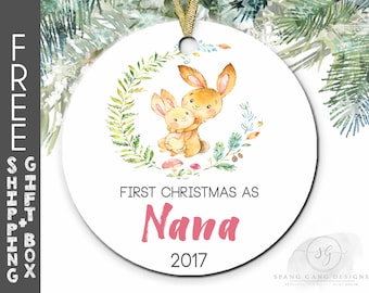 1st Christmas as Nana | Nana First Christmas | New Nana Gift | Pregnancy Reveal | Nana Christmas Gift | Gift for Nana | Nana Ornament | F13