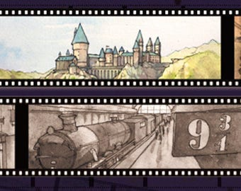 1 Roll of Limited Edition Washi Tape: Harry Potter's Street and School Sites Scenes