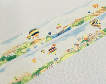 1 Roll of Limited Edition Washi Tape: Flying on Hot Balloons Day