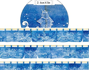 1 Roll Limited Edition Washi Tape: Japanese Door Curtain