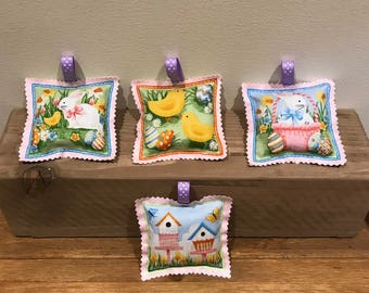 Set of four Easter lavender bags