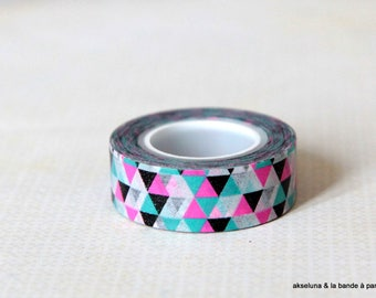 Masking tape / adhesive tape - geometric pattern 15mm x 10m