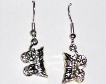 Sterling Silver Conestoga Wagon Earrings for Pierced Ears