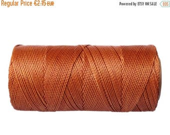 ON SALE Waxed Polyester Cord, 15 meters/16 yards Knotting Cord, Bracelet Cord - Copper