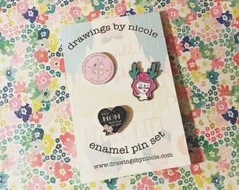 SALE - 3 enamel pin pack set 4.