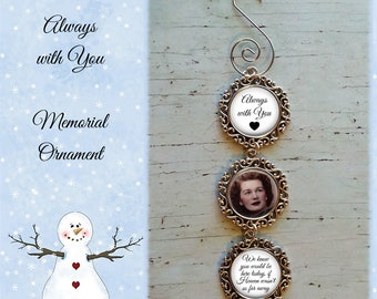 SALE! Memorial Ornament Personalized with Photo - Christmas Ornament- Cyber Monday