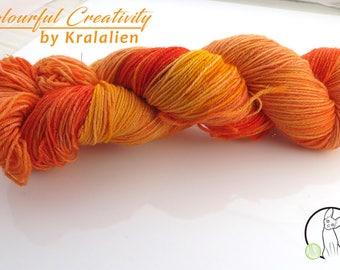 Orange Sunset - Colourful Sparkle Sock *Snowflake*