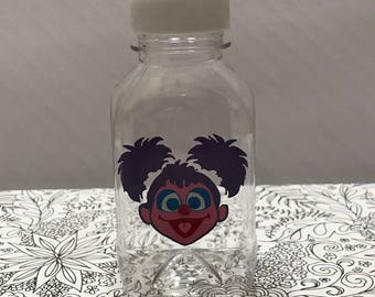 1- Abby Cadabby 8 oz or 12 oz Sesame Street Vinyl Plastic Cup Milk Bottle with Lid