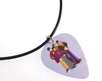 The Beatles Yellow Submarine/BAND Album Cover Art Genuine Guitar Pick Necklace