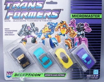 Vintage G1 Transformers Micromasters Sports Car Patrol MOC Mint on Card Never Opened C8