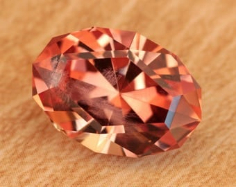 4.82 Carat Oregon Sunstone Gemstone Precision Cut Gem