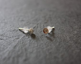 Lot 50 earrings flea(chip) media 12 x 4 mm silver metal and the tip