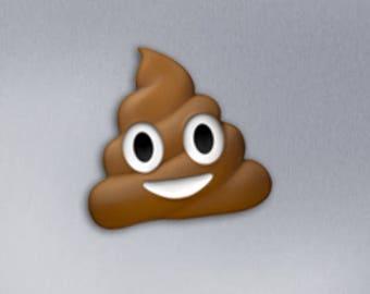 Poop Emoji Fridge Magnet Locker Funny Gift