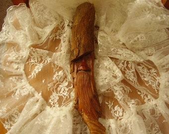 Handcarved REDWOOD Tree FACE