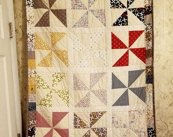 Pinwheel Quilt out of Reunion Fabric
