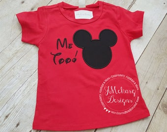Funny Custom Embroidered Disney Inspired Vacation Shirt! 773 Me too!