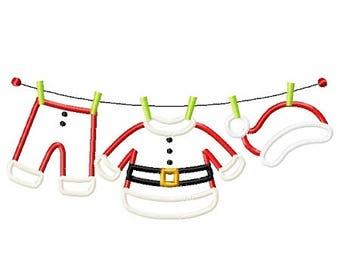 Santa Clothesline - Santa's Gear - Christmas Custom Tee Shirt - Customizable