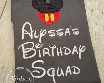 Disney-Inspired Birthday Squad Shirt - Custom Birthday Tee 802c