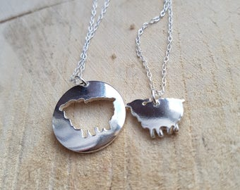 Sheep Necklace, Sterling Silver Sheep Pendant, Sheep Jewellery, Animal Jewelry, Chinese Zodiac Jewelry, Year of the sheep