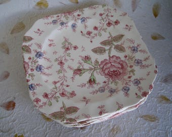 Rose Chintz Johnson Brothers Tea Plate, 1 only