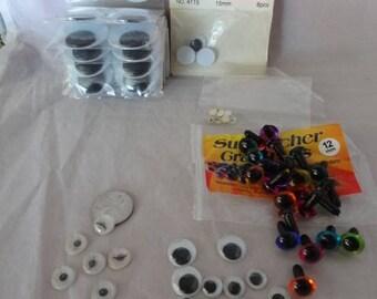 Craft Supplies - Miniature Eyes for Dolls