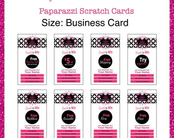 Paparazzi Loyalty Scratch Cards --Custom Digital Download