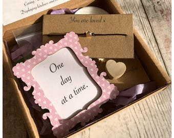 Hygge care box, Caring gift, Heart Wish string, thinking of you, friendship, good luck, feel better soon, have a lovely day, Wish you well