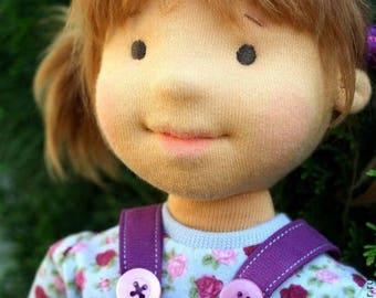 Waldorf doll , organic doll, 43 sm - Lyubochka - gift for girls, collection doll