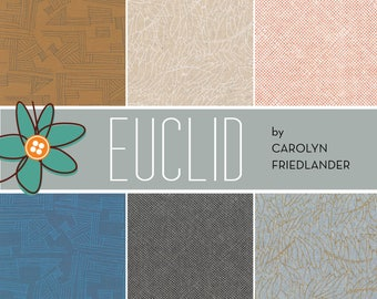 Euclid Fat Quarter Bundle - Carolyn Friedlander - Robert Kaufman - 6 Fat Quarters