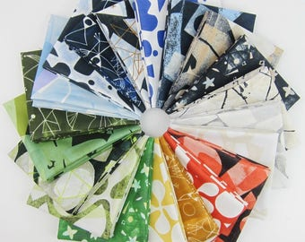 Printmaking Fat Quarter Bundle by Lizzy House for Andover - 20 Fat Quarters - 5 Yards Total