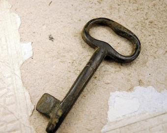 ON SALE Antique Brass Key k55